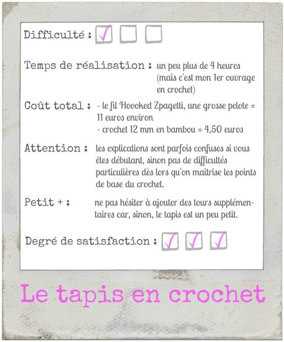 Le tapis en crochet_Explications
